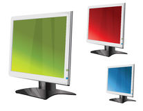 Monitor. Easy to resize or change color Royalty Free Stock Photography
