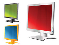 Monitor. Easy to resize or change color Royalty Free Stock Photos
