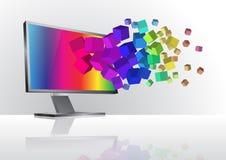 monitor Imagem de Stock Royalty Free