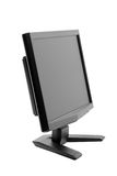 Monitor. Desktop computer monitor isolated on white background with clipping path Royalty Free Stock Photos