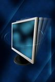 Monitor on an abstract background stock illustration