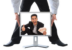 Monitor with advertisement. Stock Photography