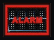 Monitor alarm. Alarm on the monitor. raster illustration Stock Photos