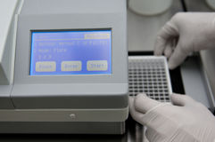 Monitor Analytical machine. It's a monitor the analytical machine for the food analysis, ELISA stock photography