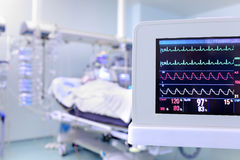 Monitor as a concept of clock surveillance of the patient Royalty Free Stock Images