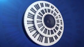 Monitor audio de la dinámica en piano de dos circulares libre illustration