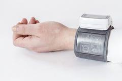 Monitor automático de la presión arterial Imagen de archivo libre de regalías