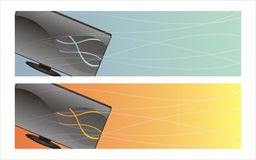 Monitor banners Royalty Free Stock Photography