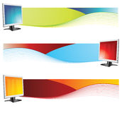 Monitor banners. Banner easy to resize or change color Royalty Free Stock Photo