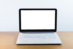 Monitor in bianco del taccuino Fotografie Stock