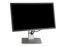 Monitor with a black screen Stock Photos