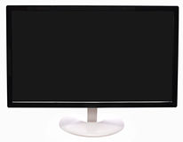 Monitor. Black monitor with white leg isolated on white background. Blank space for designer Stock Photography