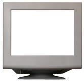 Monitor blanco Foto de archivo libre de regalías