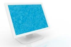 Monitor blanco Fotos de archivo