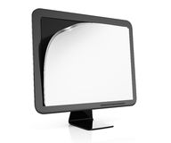 Monitor with blank pages on screen. On white background. 3d rendering illustration Stock Photography