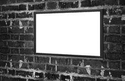 Monitor with blank screen for copy space Royalty Free Stock Photos