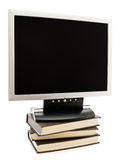 Monitor on the books Stock Photography