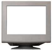 Monitor branco Foto de Stock Royalty Free