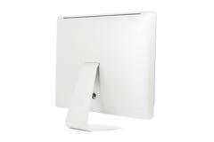 Monitor branco do computador isolado Fotos de Stock