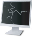 Monitor broken Royalty Free Stock Photography