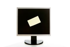 Monitor with bulletin Royalty Free Stock Photos