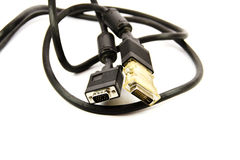 Monitor Cable with Adapter Stock Photo
