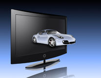 Monitor and car Royalty Free Stock Photography