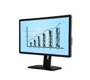 Monitor with chart Stock Image