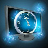 Monitor with Christmas chimes Royalty Free Stock Photos
