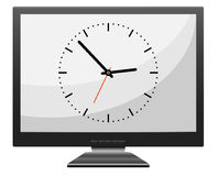 Monitor. With clock -  web design element Royalty Free Stock Images