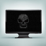 Monitor code skull Royalty Free Stock Images