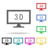 monitor com ícones 3d Elementos Web humana de ícones coloridos Ícone superior do projeto gráfico da qualidade Ícone simples para  ilustração do vetor