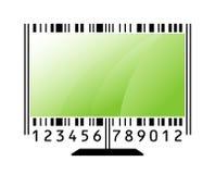 Monitor como código de barras Fotos de archivo libres de regalías