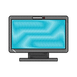 Monitor computer isolated icon Stock Photo