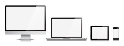 Monitor Computer Laptop Tablet Phone Vector Device Royalty Free Stock Photography