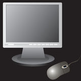 The monitor and computer mouse. Royalty Free Stock Photos