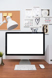 Monitor computer PC workspace Royalty Free Stock Image