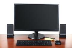 Monitor con gli accessori Immagine Stock Libera da Diritti