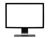 Monitor con pantalla grande Imagen de archivo libre de regalías