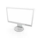 Monitor con una pantalla blanca para insertar imágenes ilustración del vector