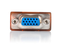 Monitor connector isolated Royalty Free Stock Photography