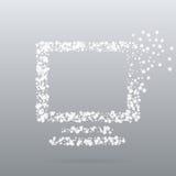 Monitor creativo dell'icona del punto Fotografia Stock