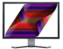 Monitor with curling screen Stock Image