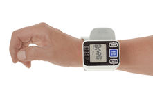 Monitor da pressão sanguínea Imagem de Stock Royalty Free