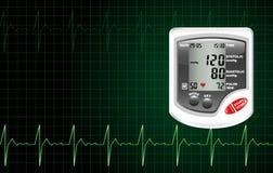 Monitor da pressão sanguínea Fotografia de Stock