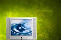 Monitor da tevê Imagem de Stock