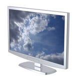 Monitor da tevê do Lcd no fundo branco. Fotos de Stock