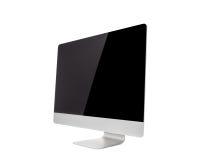 Monitor de computadora, como el mac con la pantalla en blanco imagen de archivo libre de regalías