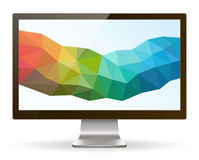 Monitor de computadora de la pantalla ancha III stock de ilustración