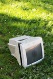 Monitor de computadora, roto Foto de archivo libre de regalías